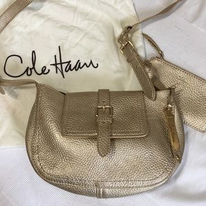 Cole Haan - Light Gold Leather Crossbody